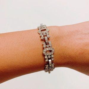 Silver Sparkly Rhinestone Fashion Bracelet